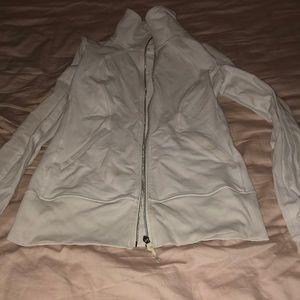 Lululemon track jacket white 6